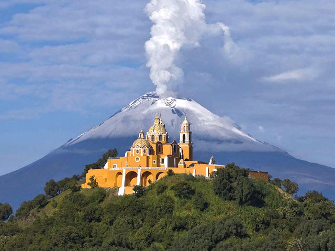 Piramide di Cholula e Puebla