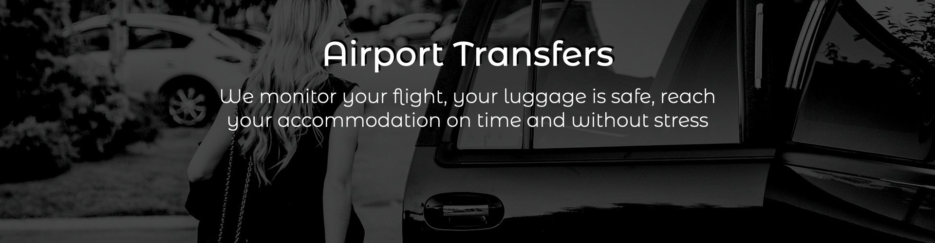 Book online your transfer from and to the airport