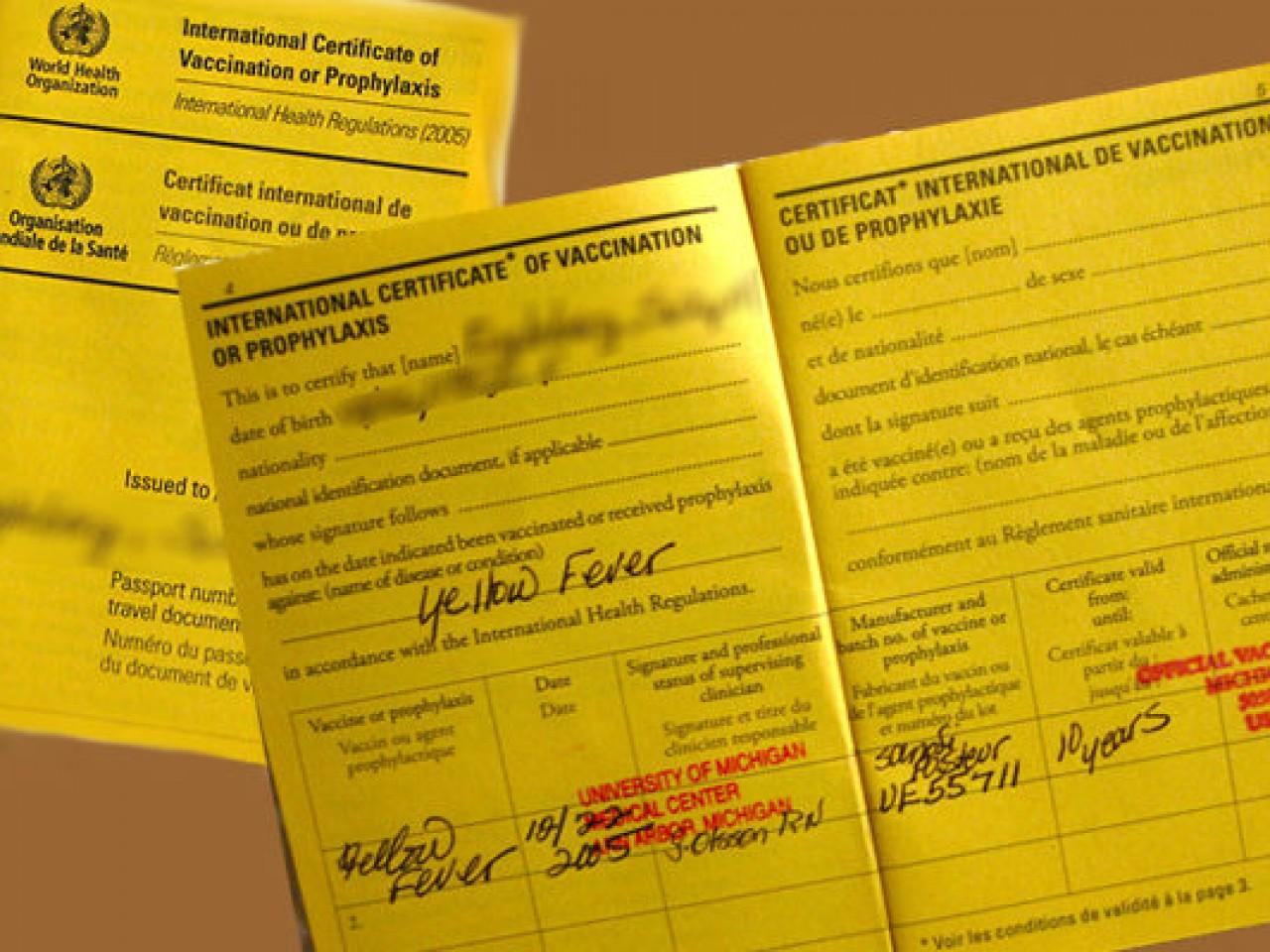 FAQ regarding Yellow Fever vaccination