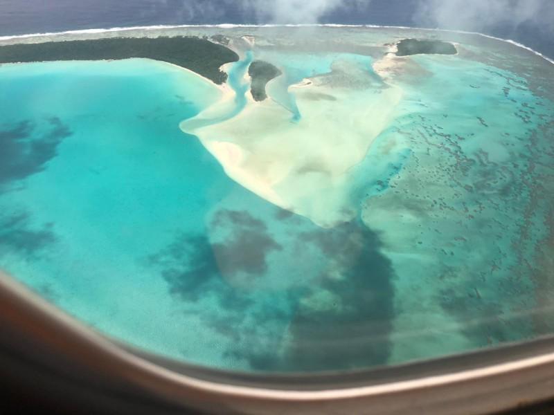 Sorvolando la laguna di Aitutaki