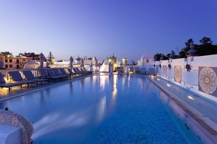 Terme Manzi, roof garden pool